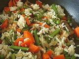 Reispfanne mit gemischtem Gemüse
