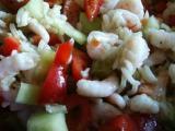 schnell zubereiteter Reissalat mit Krabben