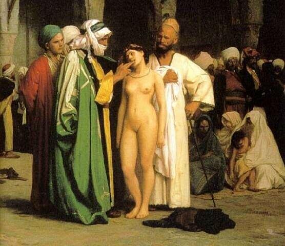 In Abbildungen finden sich mehr Sklavinnen als Sklaven, auch eine Frage der Rollenverteilung.