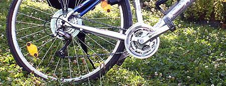 Fahrrad, Hinterrad, Kette, Schaltung
