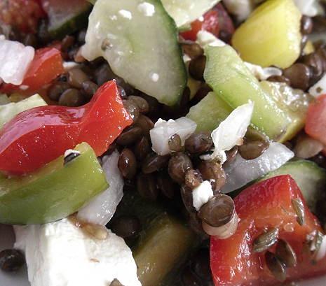 Salat, sättigend und kalorienarm