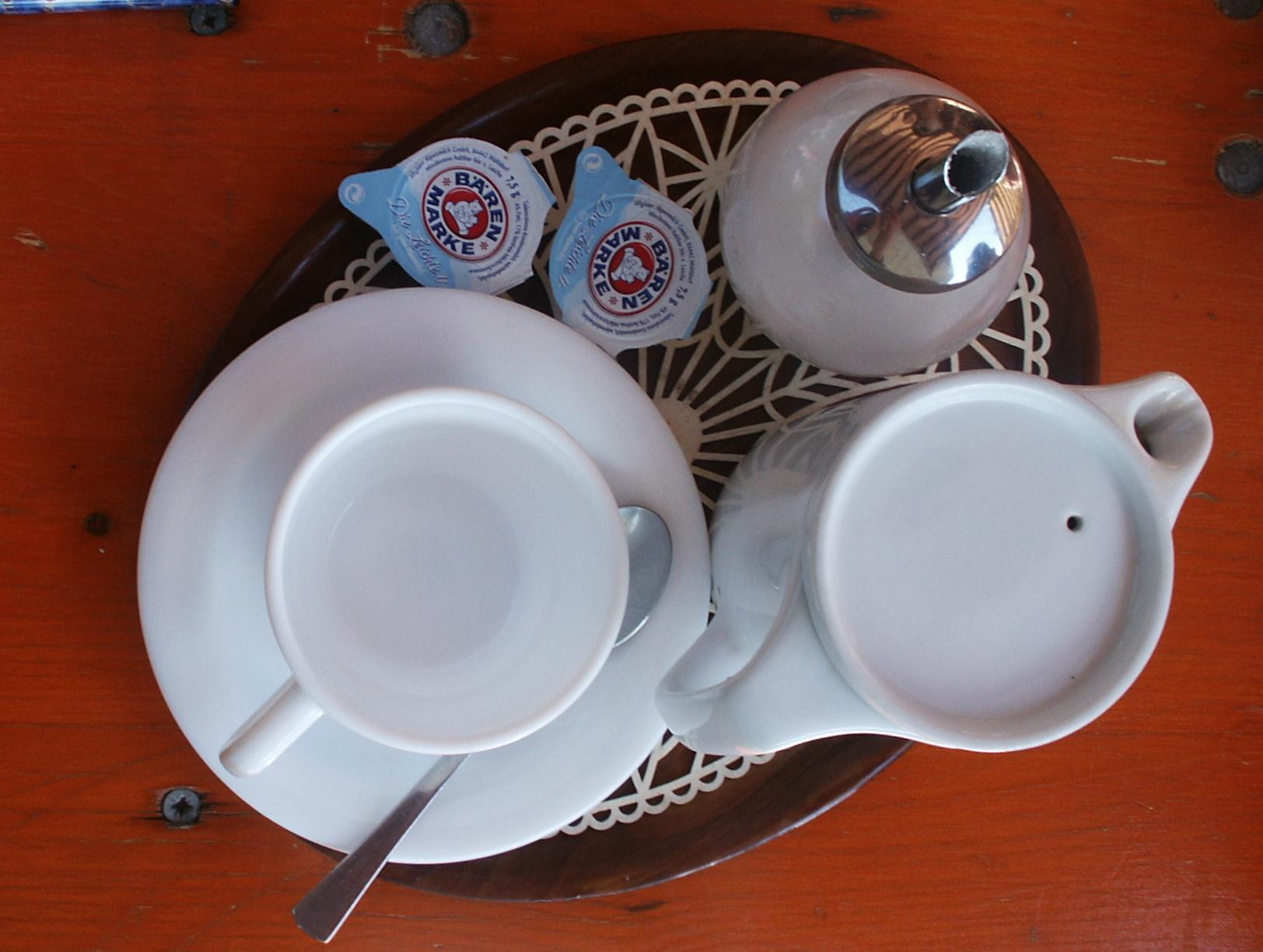 Kaffee und Kännchen