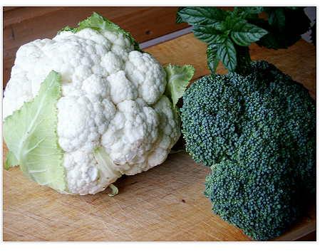 Blumenkohl und Broccoli