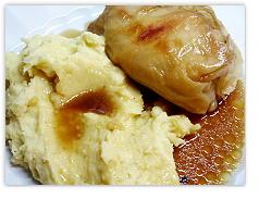 Kohlroulade mit Kartoffelbrei