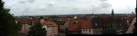 Panorama Nürnberg, für größere Darstellung Bild anklicken
