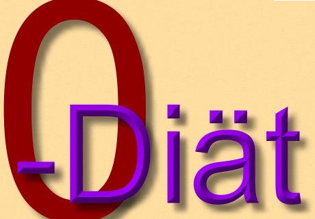 Nulldiät - Symbolbild
