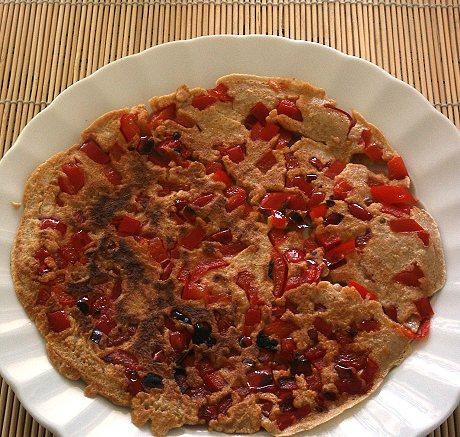 Pfannkuchen mit Paprika