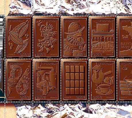 schokoladen-Briefmarken