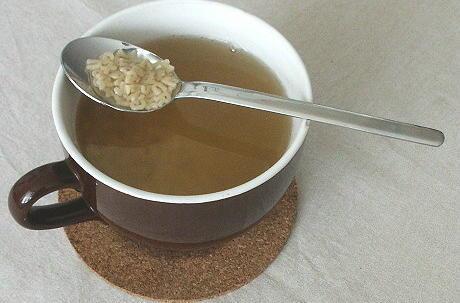 Buchstaben-Suppe in der Supentasse
