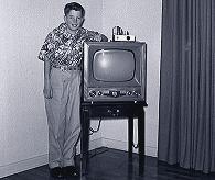 Fernsehgerät und Zuschauer